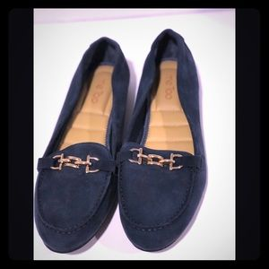 Me Too Penny Blue Suede Loafers New